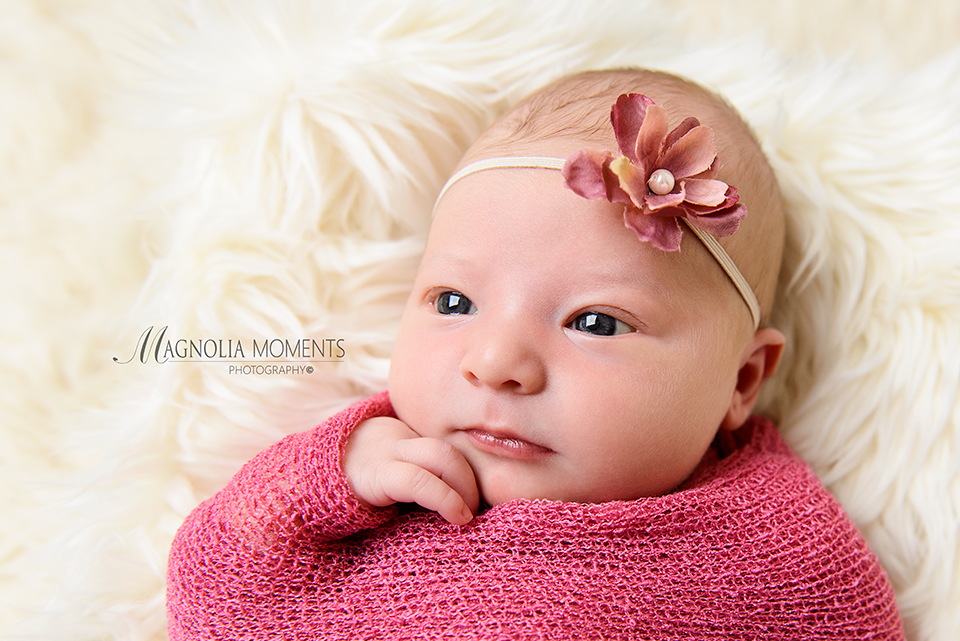 Beautiful 7 Day Old Baby Girl Portraits Montgomery County