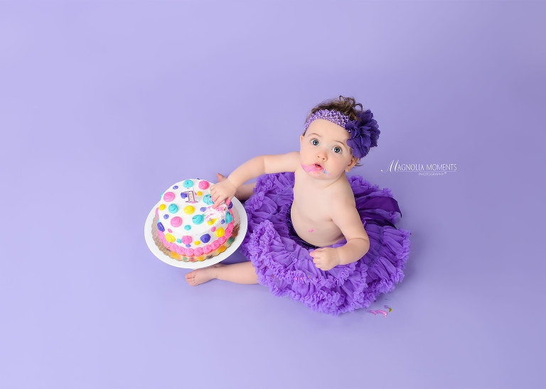 Adorable 1st Birthday Cake Smash Session Collegeville Pa